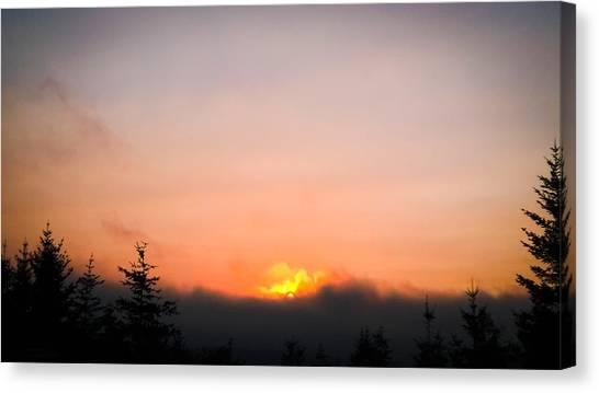 Fire Sunset II Canvas Print