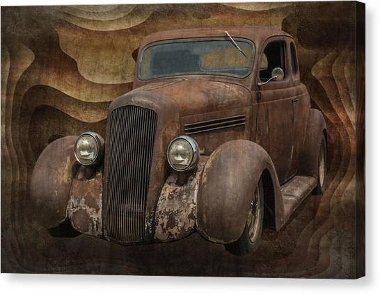 Analog Canvas Print - Fire Survivor 35 Plymouth by Jack Zulli