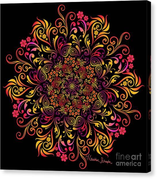 Fire Swirl Flower Canvas Print