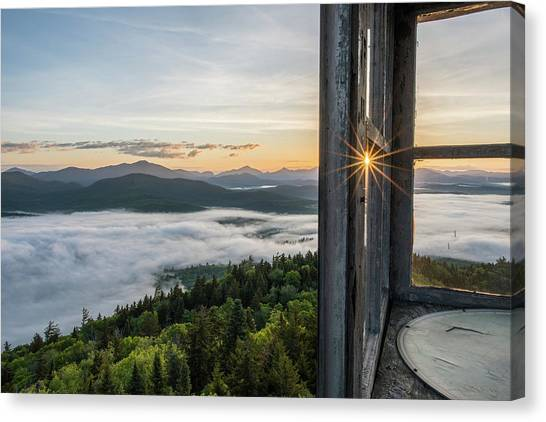 Fire Tower Sunburst Canvas Print