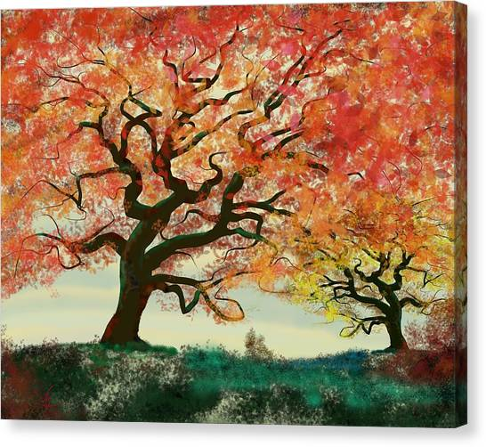 Fire Tree Canvas Print