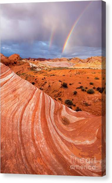 Valley Of Fire Canvas Print - Fire Wave Covenant by Mike Dawson