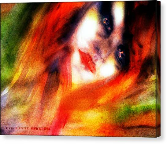 Fire Woman Canvas Print