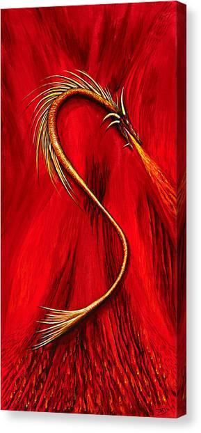 Fire Wyrmling Canvas Print