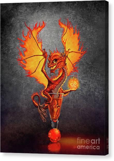 Fireball Dragon Canvas Print