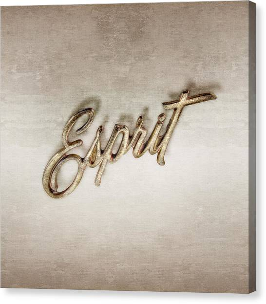 Firebird Esprit Chrome Emblem Canvas Print