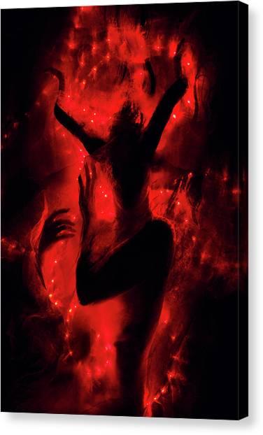 Sensual Canvas Print - Fireborn by Cambion Art