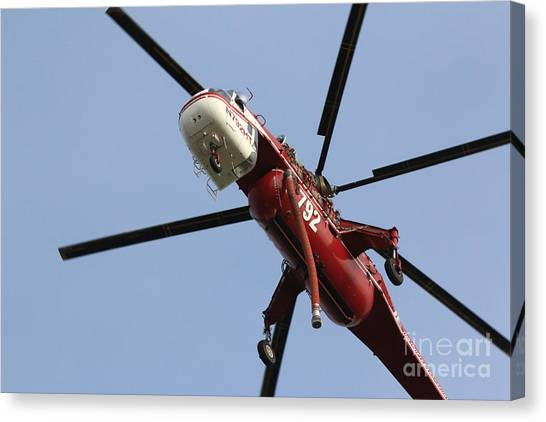 Skycrane Canvas Print - Firefighting Helicopter 2 by Craig Corwin