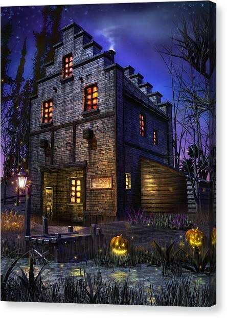 Burton Canvas Print - Firefly Inn by Joel Payne