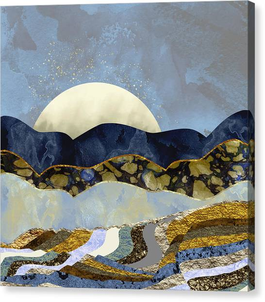 Mountain View Canvas Print - Firefly Sky by Katherine Smit
