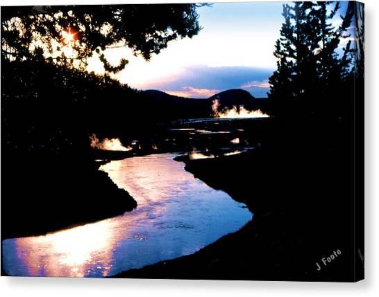 Firehole River Canvas Print