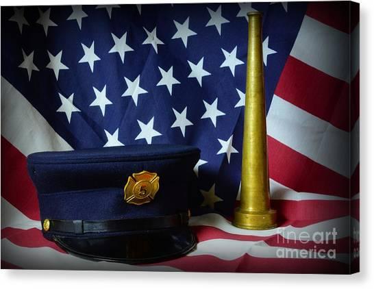 First Responders Canvas Print - Fireman - American Hero by Paul Ward
