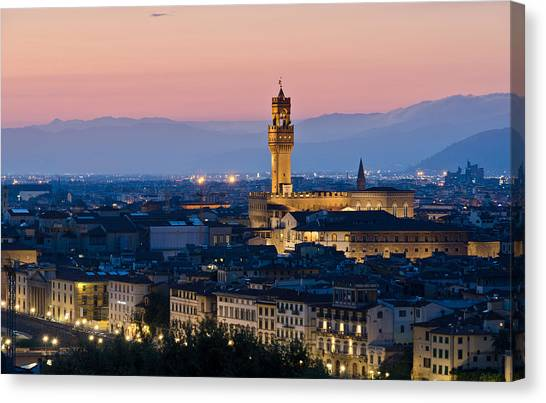 Firenze At Sunset Canvas Print