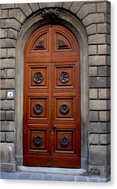 Firenze Door Canvas Print
