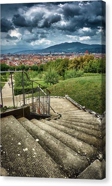 Firenze From The Boboli Gardens Canvas Print