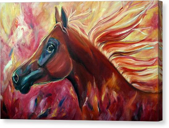 Firestalker Canvas Print by Stephanie Allison