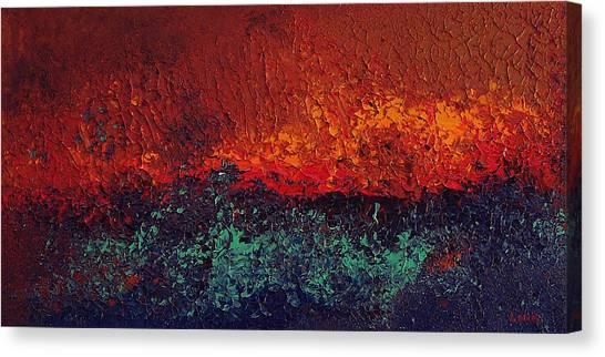 Firestorm Canvas Print by Michael Lewis