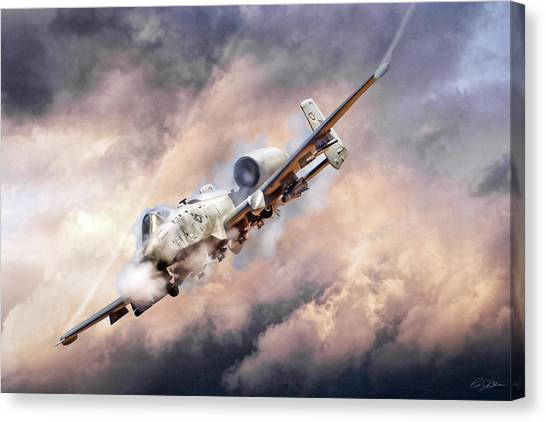 Bombs Canvas Print - Firestorm by Peter Chilelli