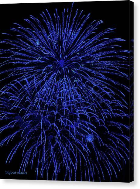 Firework Blues Canvas Print