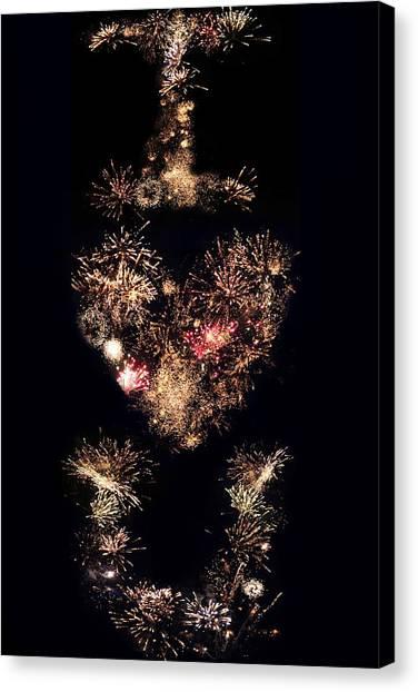 Adam Smith Canvas Print - Firework Love by Adam Smith