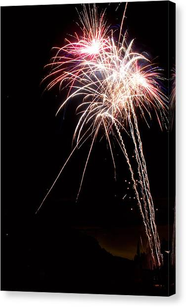 Fireworks 70 Canvas Print by James BO  Insogna