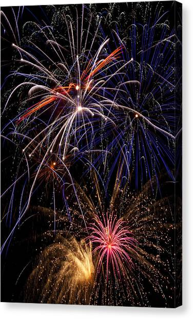 Pyrotechnics Canvas Print - Fireworks Celebration  by Garry Gay