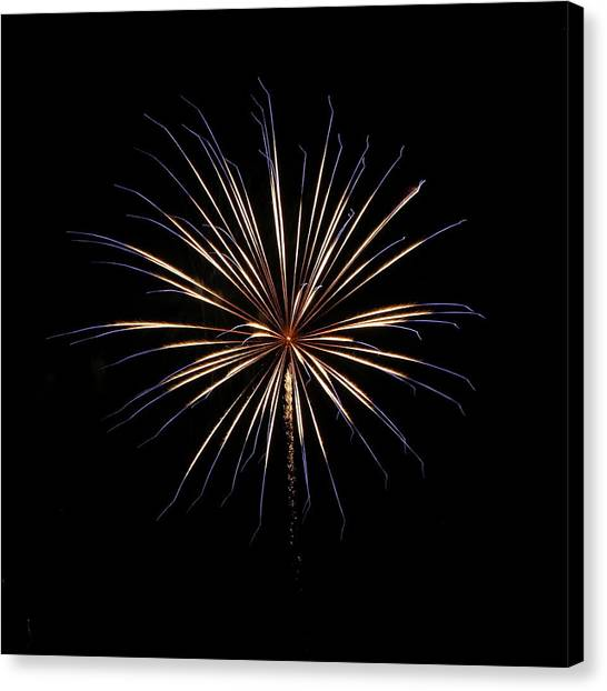 Fireworks From A Boat - 1 Canvas Print