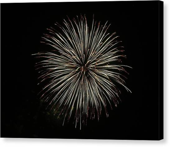 Fireworks From A Boat - 2 Canvas Print