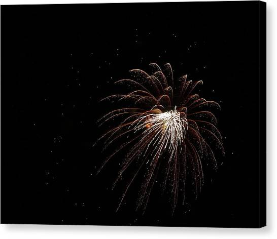 Fireworks From A Boat - 3 Canvas Print