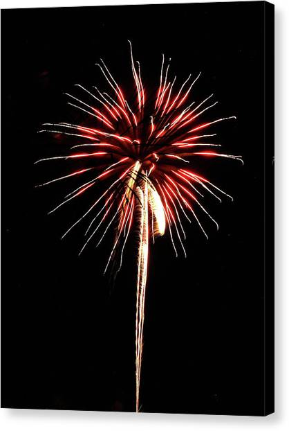 Fireworks From A Boat - 4 Canvas Print