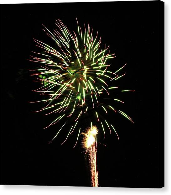 Fireworks From A Boat - 8 Canvas Print