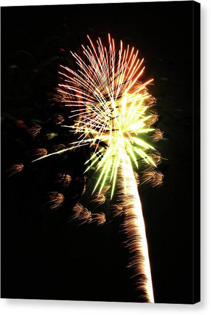 Fireworks From A Boat - 9 Canvas Print
