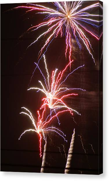Fireworks Canvas Print by Heather Green