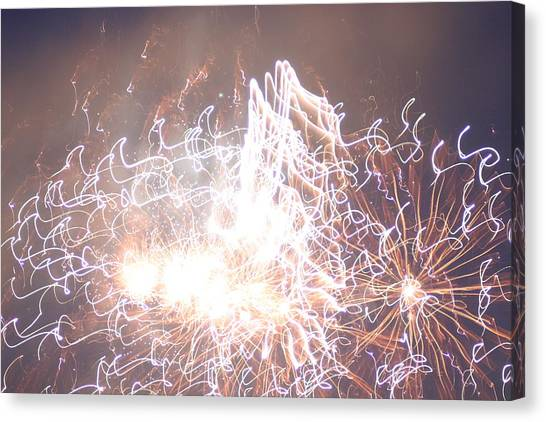 Fireworks In The Park 6 Canvas Print