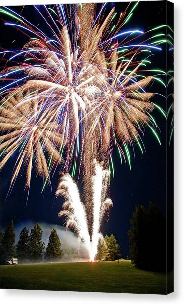 Fireworks No.4 Canvas Print by Niels Nielsen