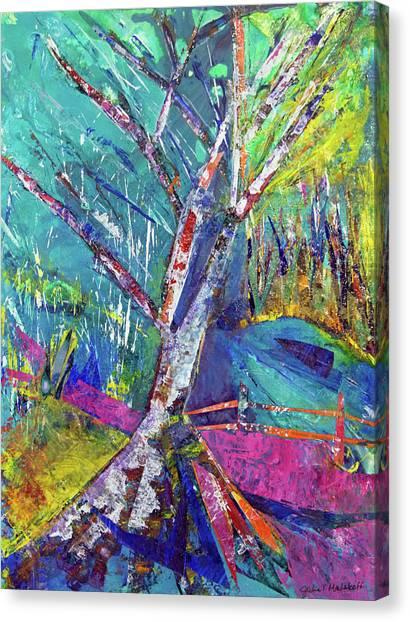 Firey Birch Canvas Print