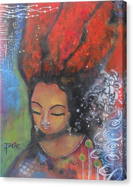 Firey Hair Girl Canvas Print