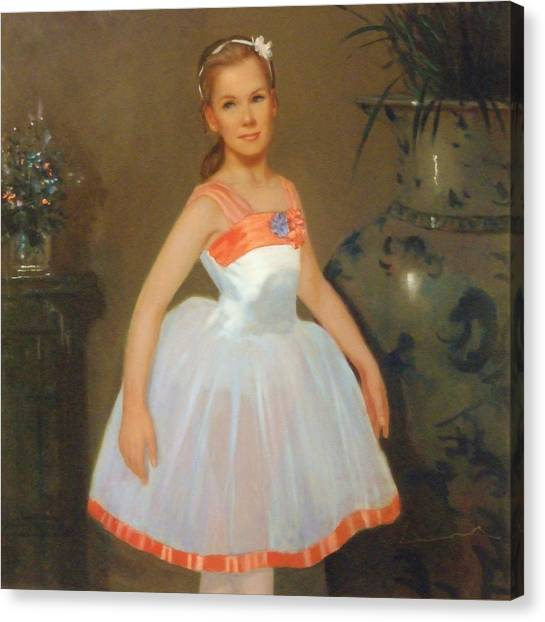 First Ballet  Nyc    Nutcracker Canvas Print by David Olander