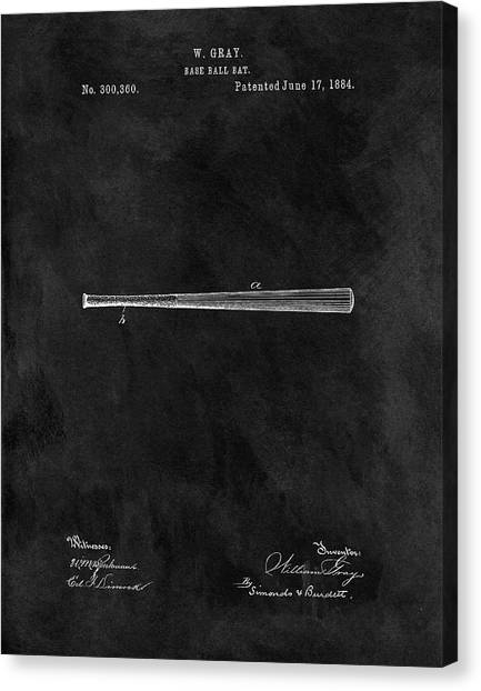 Lou Gehrig Canvas Print - First Baseball Bat Patent by Dan Sproul