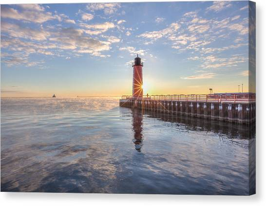 First Cold Sunrise Canvas Print