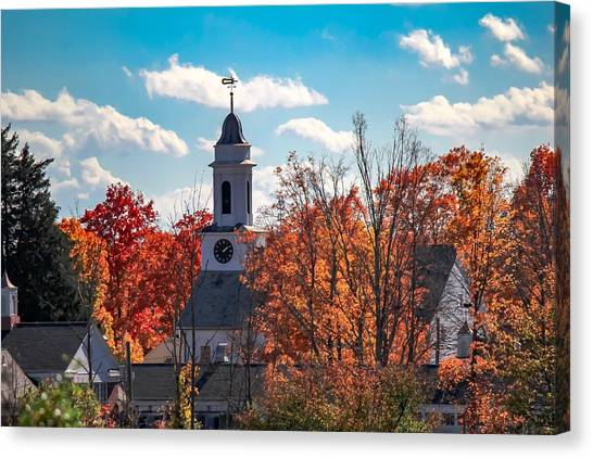 First Congregational Church Of Southampton Canvas Print