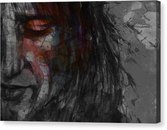 Concert Images Canvas Print - First Cut Is The Deepest Rod Stewart  by Paul Lovering