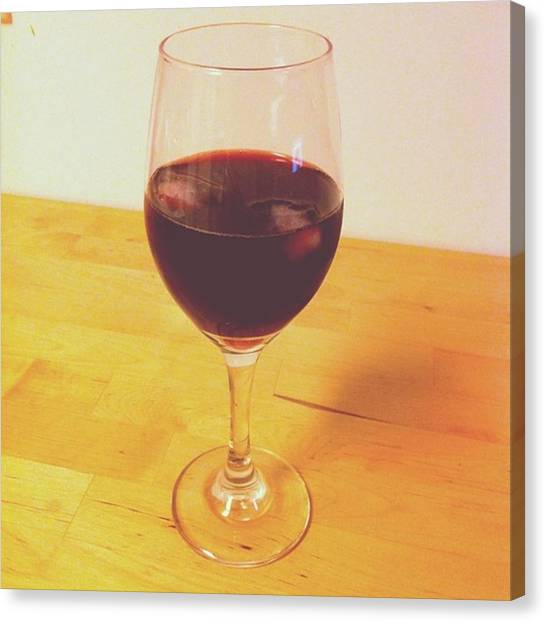 Red Wine Canvas Print - Time To Unwind by Kelsey Callander