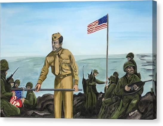 First Flag Raising Iwo Jima Canvas Print