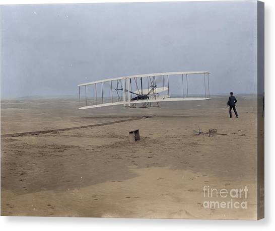 First Flight Canvas Print by Jared Enos