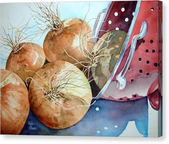 First Harvest Canvas Print by Bobbi Price
