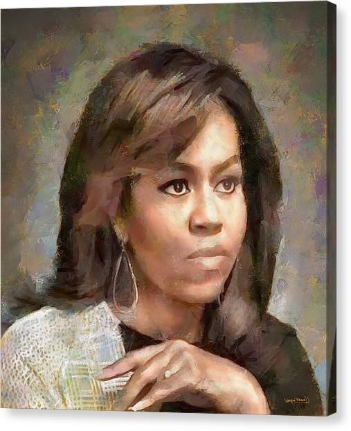 First Lady Michelle Obama Canvas Print