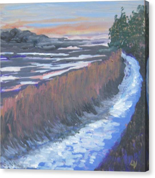 First Light At Newharbor Canvas Print by Lynne Vokatis