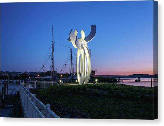 First Light At The Waterfront Canvas Print