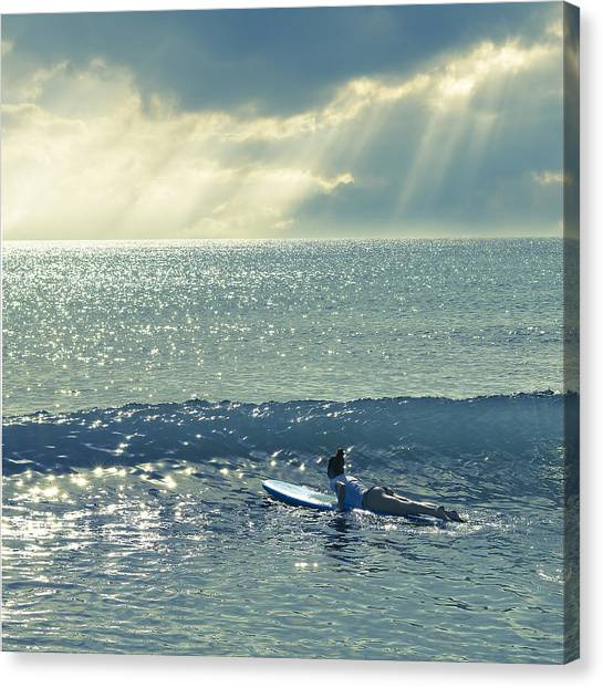 First Of The Day Canvas Print